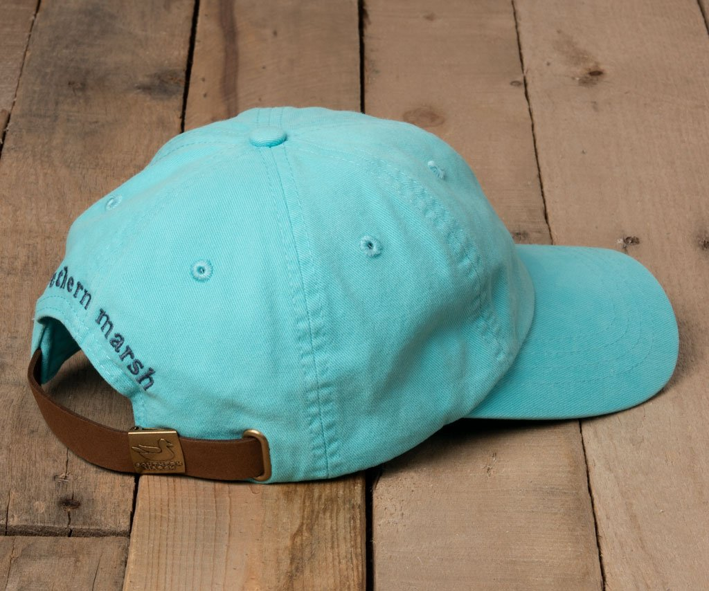 Washed Antigua Blue Hat with Slate Duck | Southern Marsh Washed Hat | Back