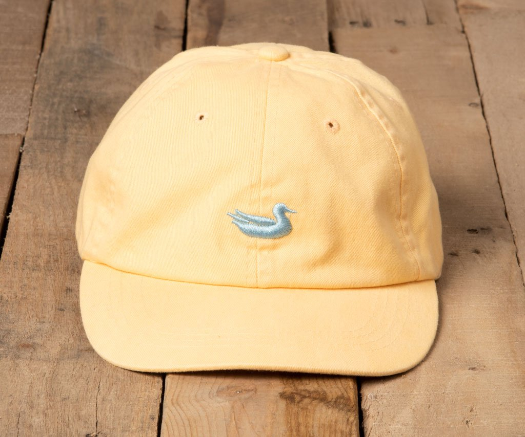 Washed Buttercream Hat with Light Blue Duck | Southern Marsh Washed Hat