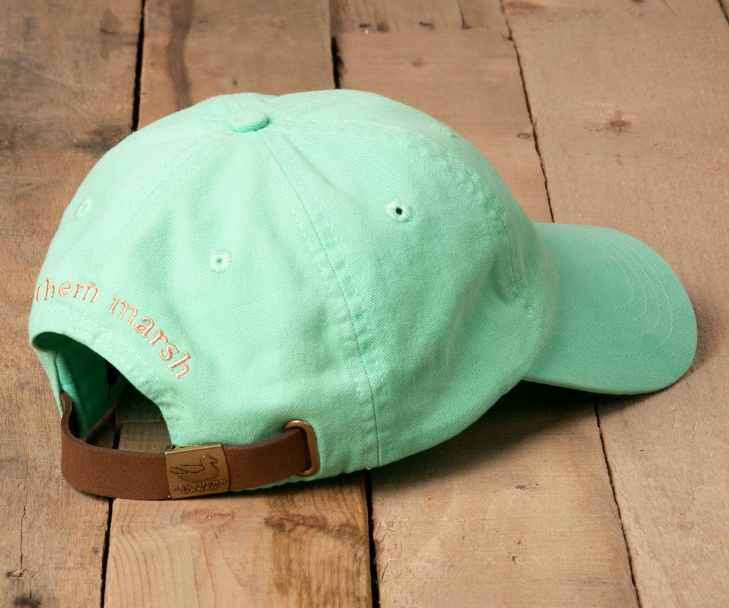 Bimini Green Hat with Melon Duck | Southern Marsh Washed Hat