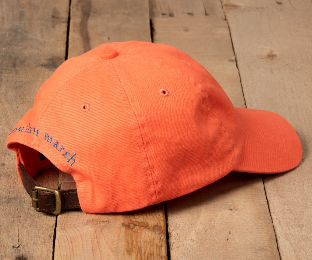 Washed Coral Hat with Navy Duck | Southern Marsh Washed Hat
