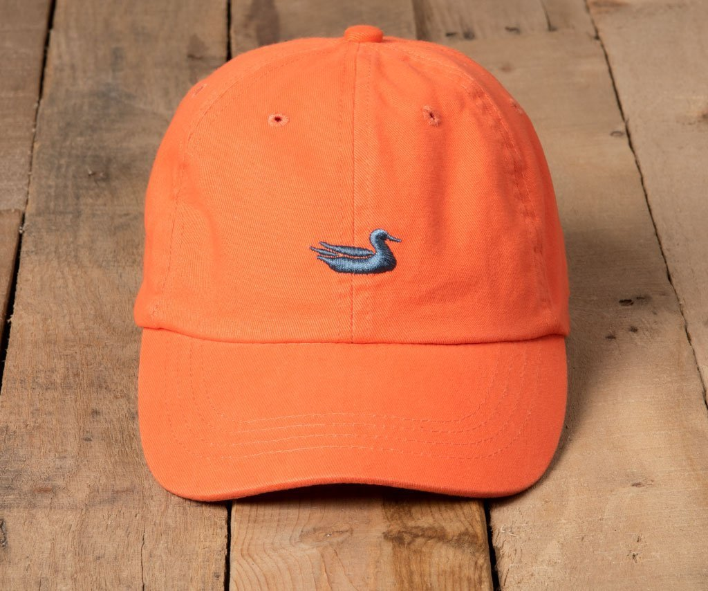 Washed Coral Hat with Navy Duck