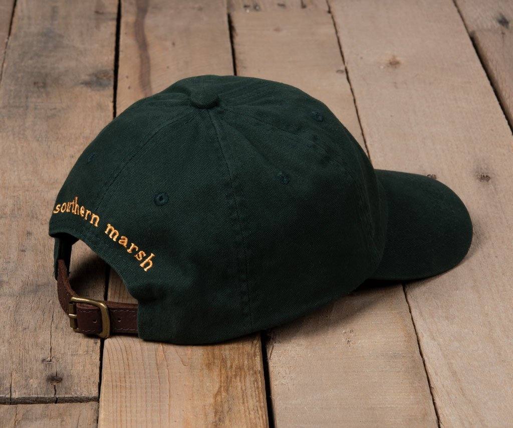 Dark Green Hat with Yellow Duck | Southern Marsh Washed Hat