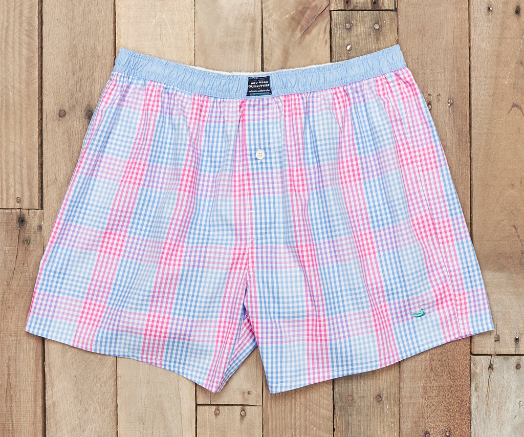Hanover Gingham Boxer | Lilac and Pink Gingham