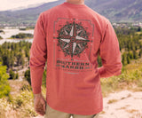 Washed Red Branding Tee | Compass | Long Sleeve