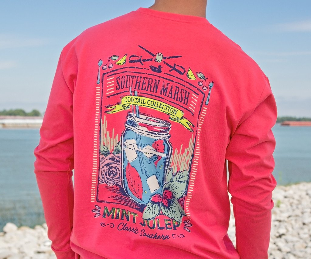 Cocktail Tee - Mint Julep - Long Sleeve