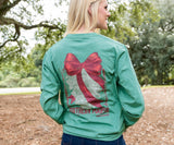 Washed Hunter Green | Conifer Christmas Tee | Long Sleeve