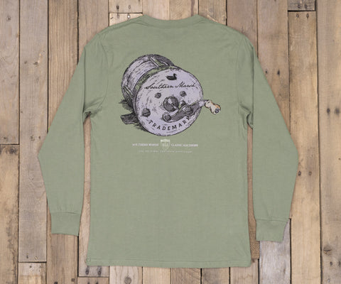 Southern Class Tee - Fishing Reel - Long Sleeve