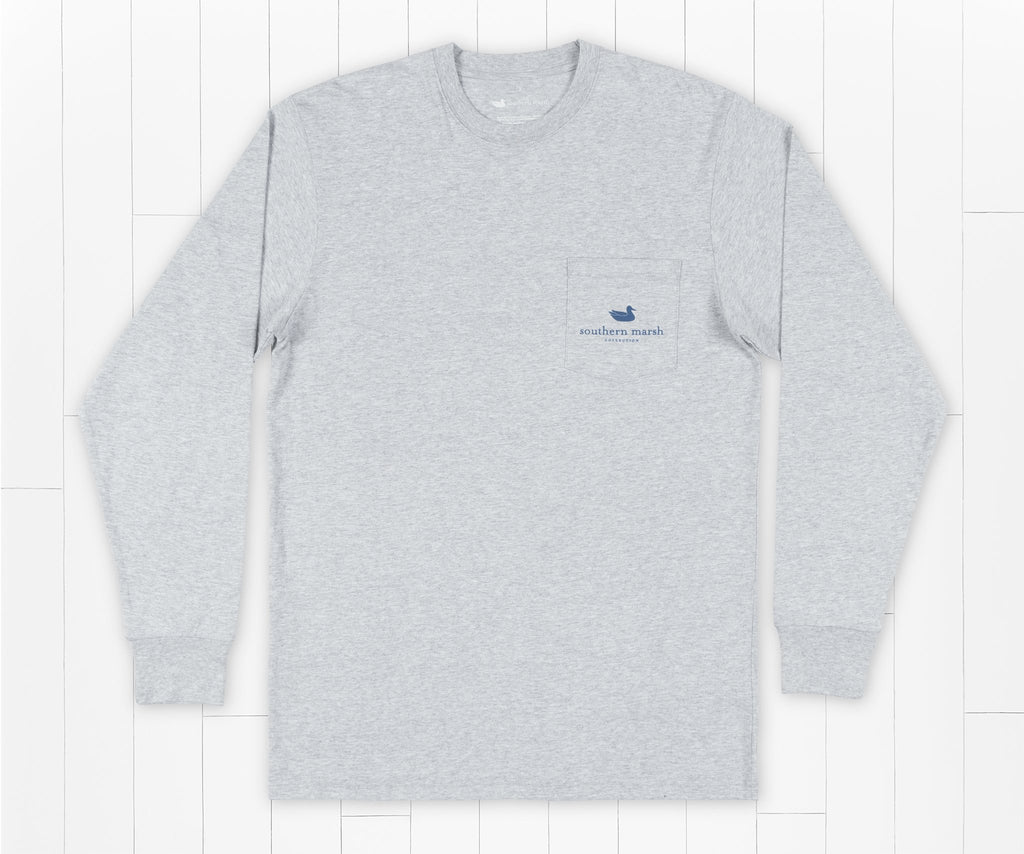 Light Gray | Mountain Weekend Tee | Long Sleeve | Front