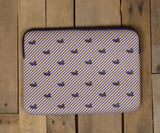 Seersucker Purple and Yellow Stripe | Southern Marsh Laptop Case | Back