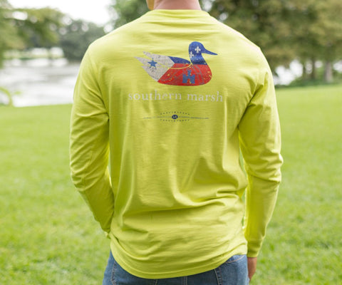 Authentic Heritage Tee - Louisiana - Long Sleeve