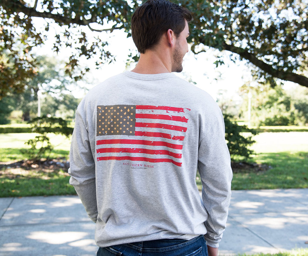 Vintage Flag Tee - Long Sleeve