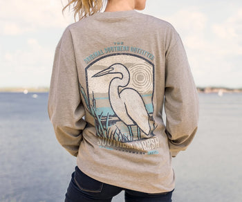 Vistas Egret Tee - Long Sleeve
