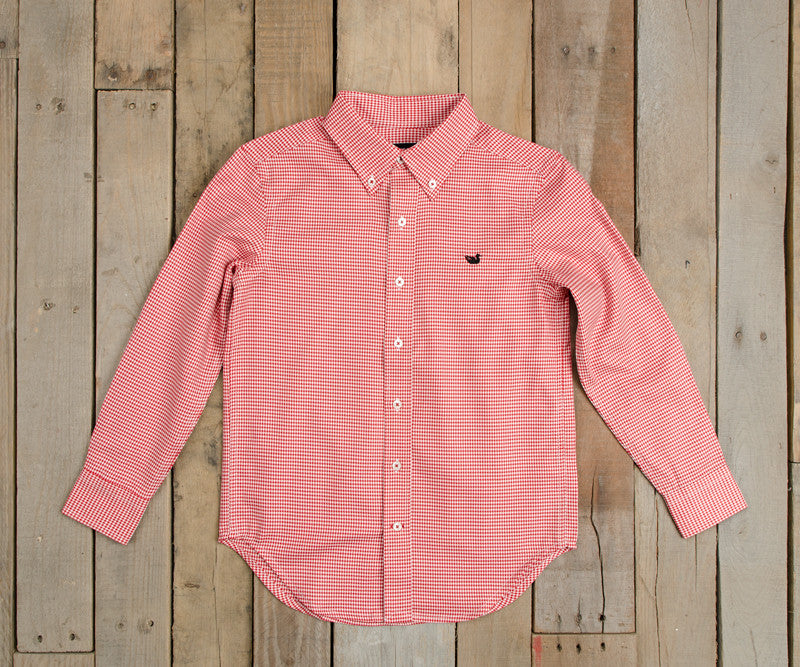 Youth Mackenzie Houndstooth Dress Shirt