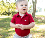 Crimson | Baby Polo Snap Onesie