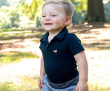 Navy | Baby Polo Snap Onesie
