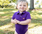 Purple | Baby Polo Snap Onesie