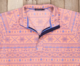 Peach and Wharf Purple Alpine | Alpine Fleece Pullover | Detail