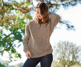 Appalachian Pile Sherpa Pullover - Light Brown with Oatmeal