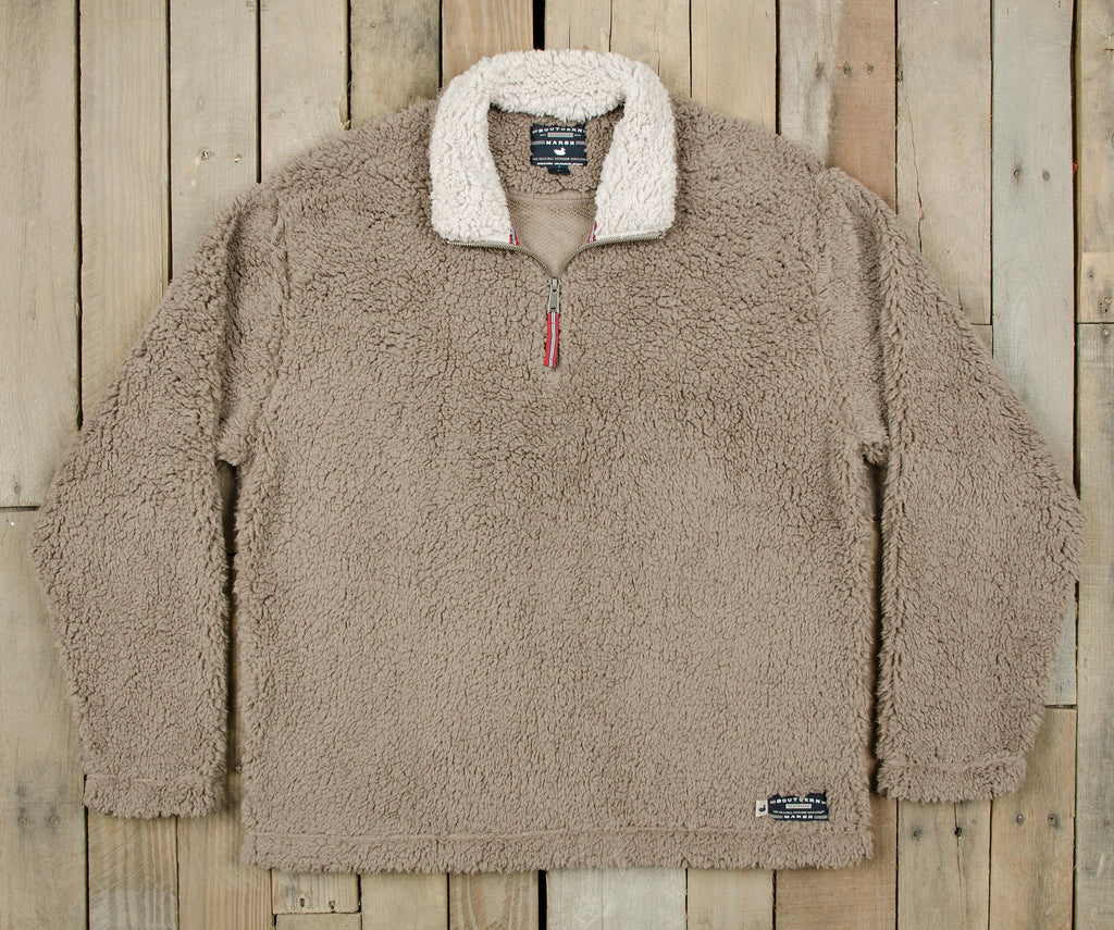 Light Brown with Oatmeal | Appalachian Pile Sherpa Pullover