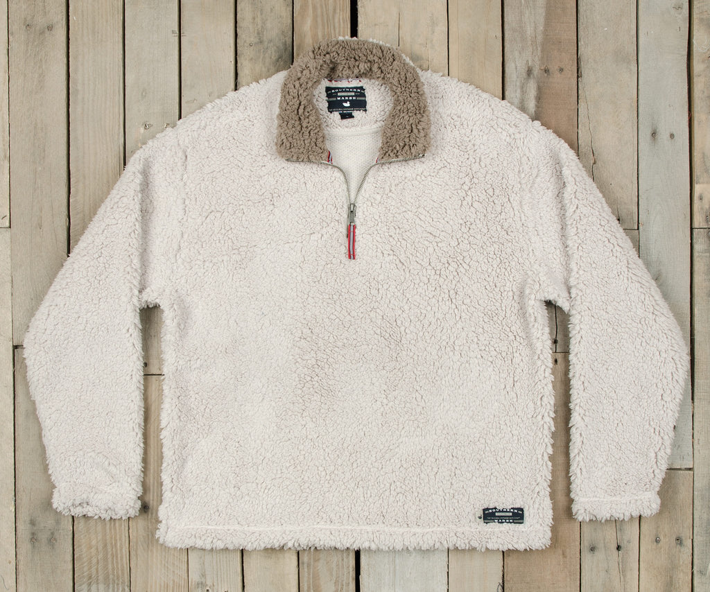Oatmeal with Light Brown | Appalachian Pile Sherpa Pullover