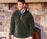 Appalachian Pile Sherpa Pullover - Stone Brown with Tan