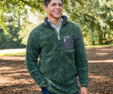 Dark Green and Mustard | Blue Ridge Sherpa Pullover