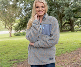 Brown and French Blue | Blue Ridge Sherpa Pullover