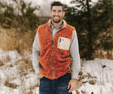 Burnt Orange and Dark Green | Blue Ridge Sherpa Vest