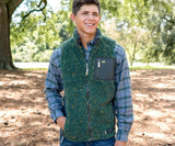 Dark Green and Mustard | Blue Ridge Sherpa Vest