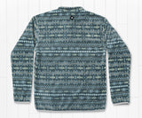 Slate       and       Mint | Culebra Catch Fleece Pullover | Geometric Design | Back