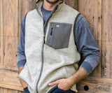 Burnt Taupe Heather | Lockhart Stretch Vest | Front