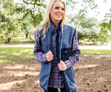 Washed Navy Heather | Lockhart Stretch Vest | Front