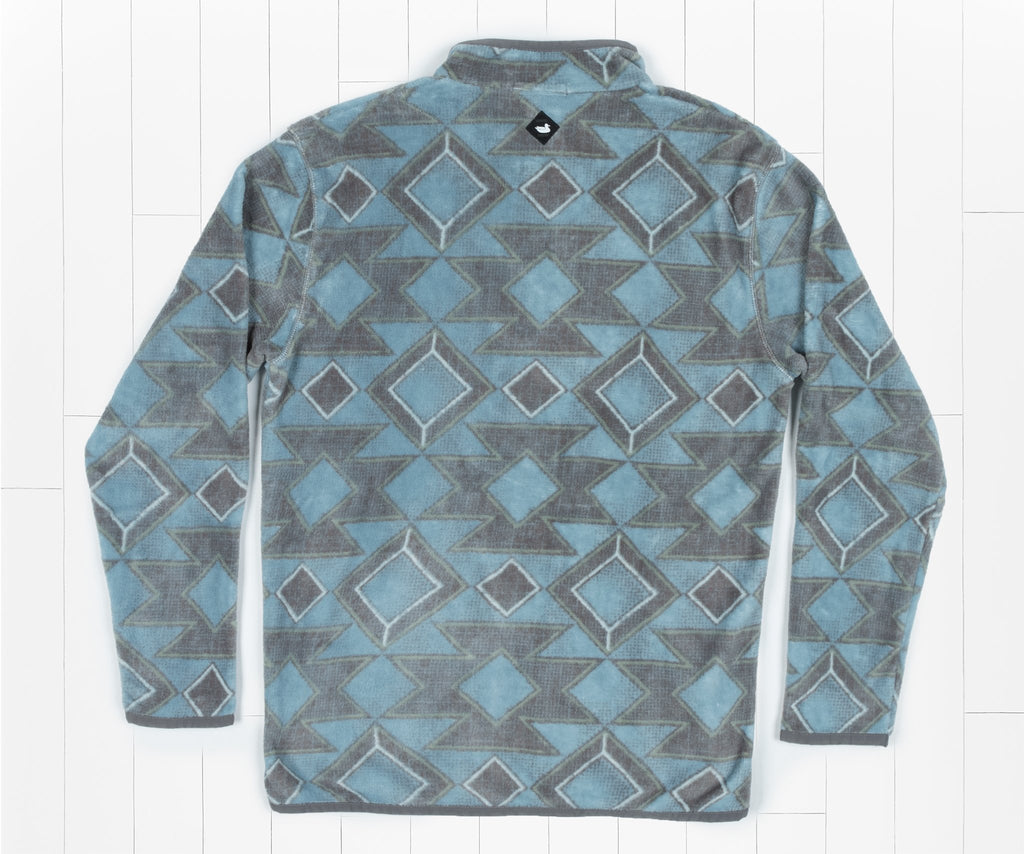 French  Blue and Midnight Gray | Pueblo Aztec Pullover | Back