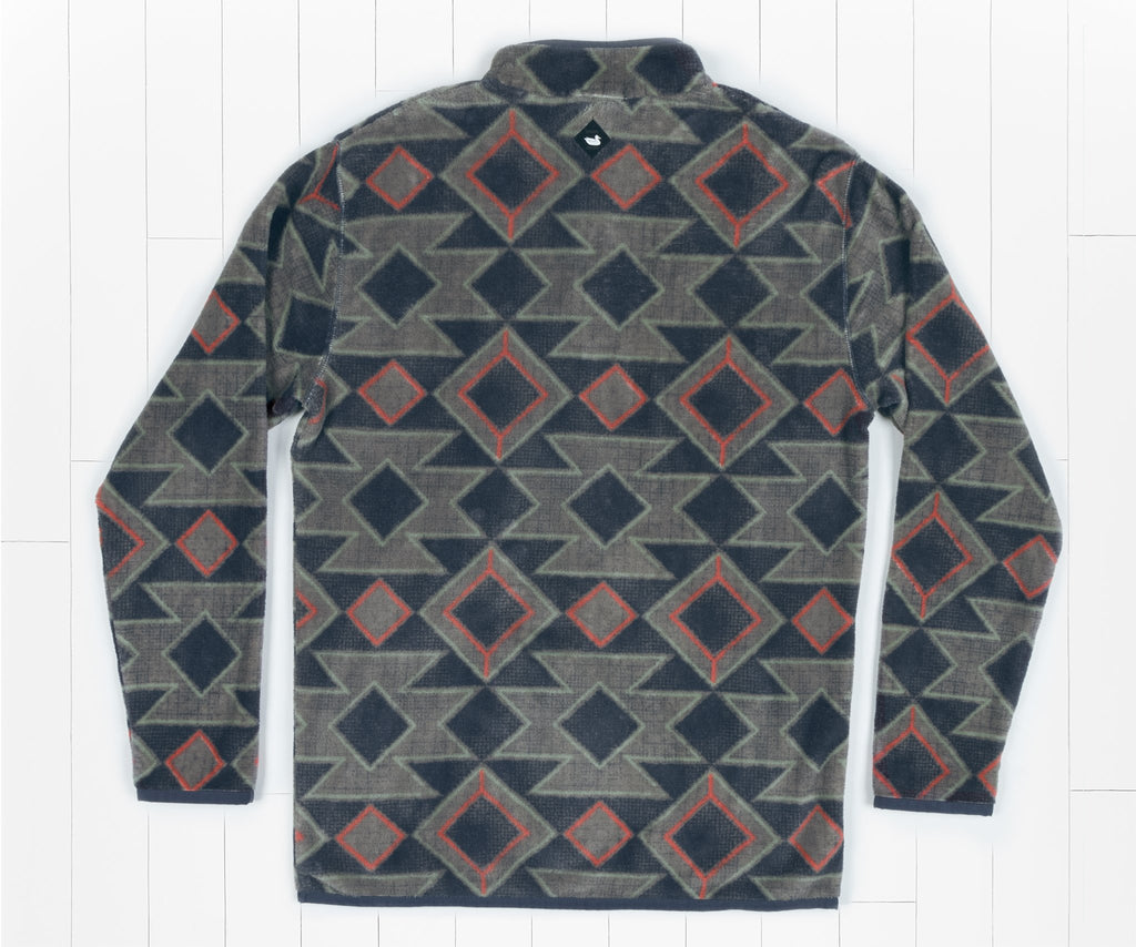 Navy   and Burnt Taupe | Pueblo Aztec Pullover | Back