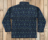 Slate  and Mint | Appalachian Peak Sherpa Pullover | Back
