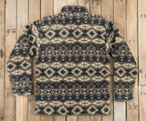 Tan and Navy | Appalachian Peak Sherpa Pullover | Back