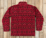 Washed Red and Brown | Appalachian Peak Sherpa Pullover | Back