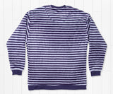 Wharf Purple and Mountain Purple | Sunday Morning Sweater | Cozy Stripe | Back