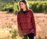 Washed Red and Midnight Gray | Sierra Madre Pullover | Lifestyle