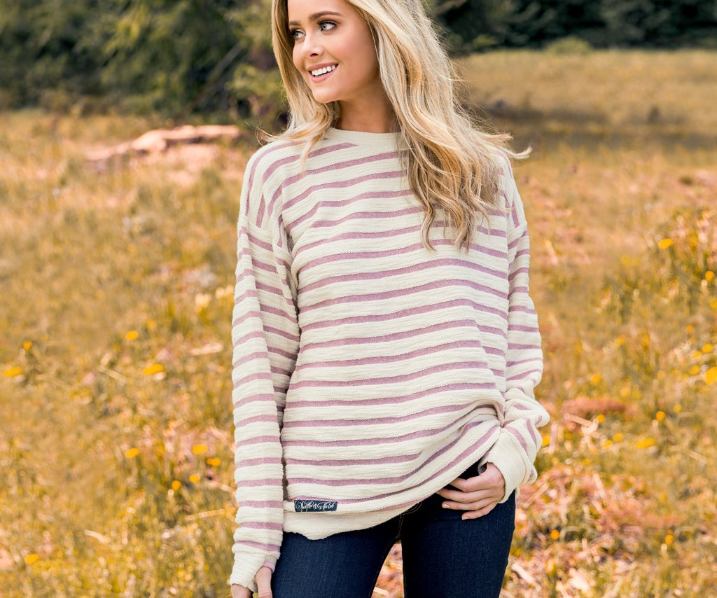 Sunday Morning Sweater - Nautical Stripe