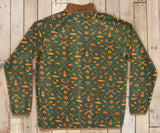 Dark Green and Neon Orange Woods | Woodlands Fleece Pullover | Back