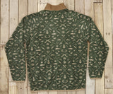 Dark Olive and Tan Woods | Woodlands Fleece Pullover | Back