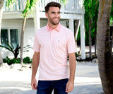 Coral | Albany Flats Stripe Polo | Mens Top