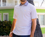 Purple | Albany Flats Stripe Polo