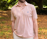 Peach and Blue | Berkeley Performance Polo | Striped