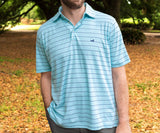 Teal and Slate | Berkeley Performance Polo | Striped