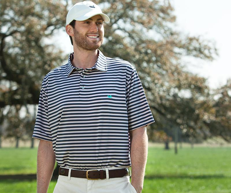 Bermuda Performance Polo - Hamilton Stripe
