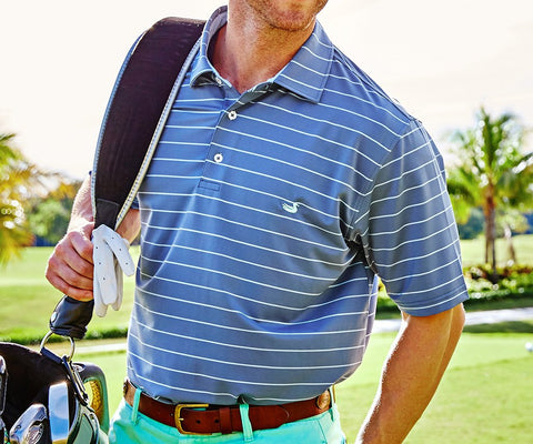 Bermuda Performance Polo - Hatteras Stripe