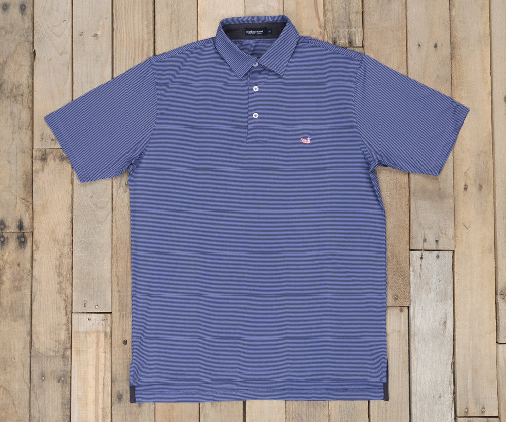 Royal Blue and Midnight Gray | Bermuda Performance Polo | Johnson