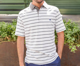 Burnt       Taupe | Marina Bay Stripe Polo